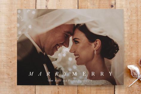 merry marry holiday Custom Stationery