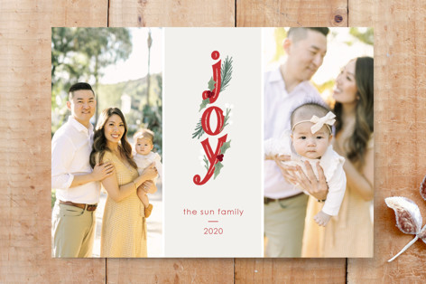 Joy Christmas Custom Stationery