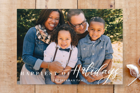 Happiest Of Holiday Cards Custom Stationery
