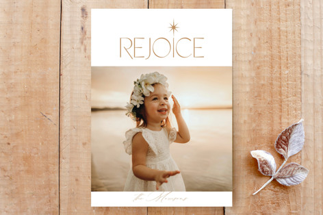 Christmas Rejoice Custom Stationery