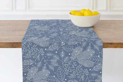 Frosted Winter Fabric Self Launch Table runners