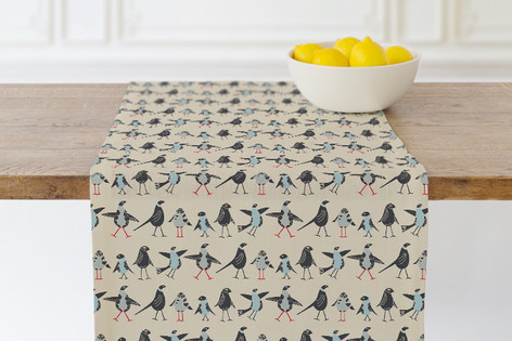 Bird Family Self Launch Table runners