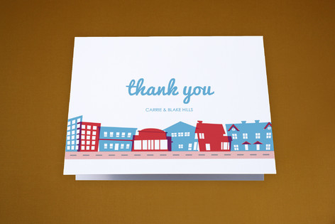Movin' Across Town Moving Announcements Thank You Cards