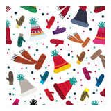 hats and gloves and scarves Wrapping Paper