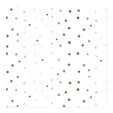 golden dots and heart Wrapping Paper