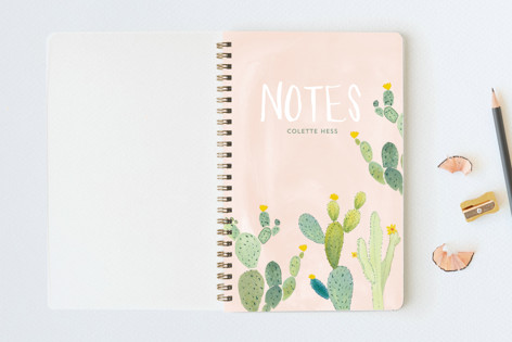 Prickly Pear Cactus Garden Notebooks