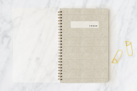 Minimal Linen Notebooks