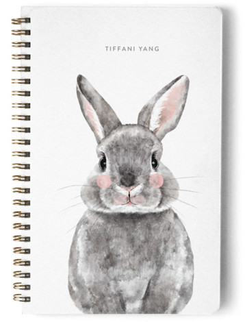 Baby Animal Rabbit Day Planner, Notebook, Or Address Book