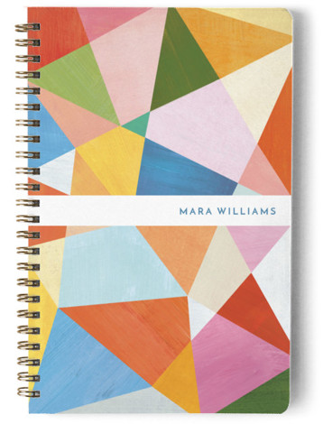 Painted Geometry Day Planner, Notebook, Or Address Book