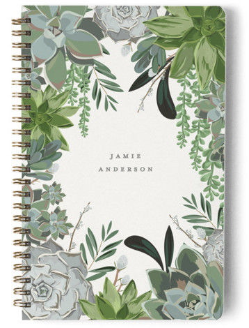 Wild Succulents Day Planner, Notebook, Or Address Book