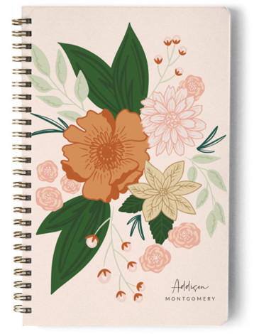 Bloomed Day Planner, Notebook, Or Address Book