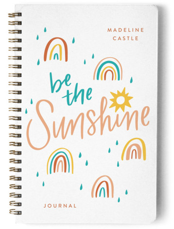 Be the Sunshine Day Planner, Notebook, Or Address Book