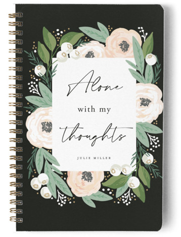 Alone with My Thoughts Day Planner, Notebook, Or Address Book