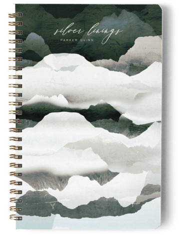 Metallic mountain silhouette Day Planner, Notebook, Or Address Book