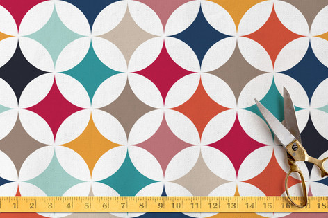 Geometry in Colors 1 Fabric