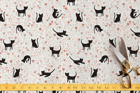 Meadow Cats Fabric