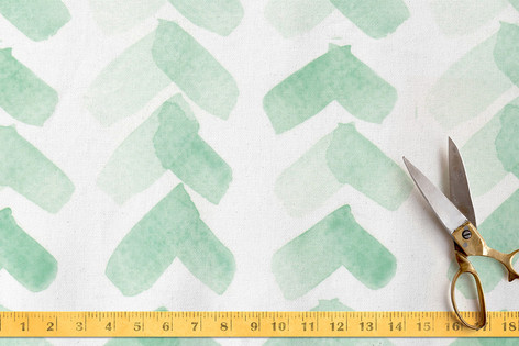 Minty Chevron Fabric