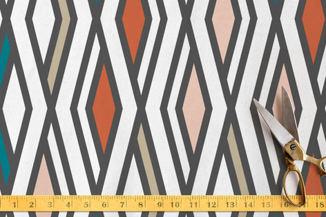 50's diamonds Fabric