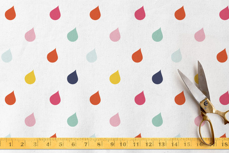 Playful Droplets Fabric