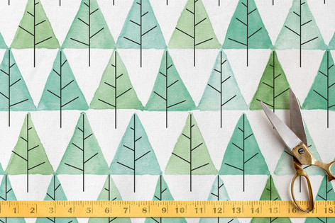 Pine forest Fabric