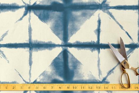 Shibori Diamonds Fabric