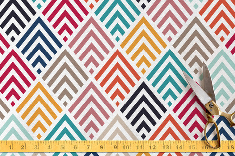 Geometry in Colors 2 Fabric