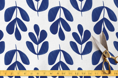 Abstract Fronds Fabric
