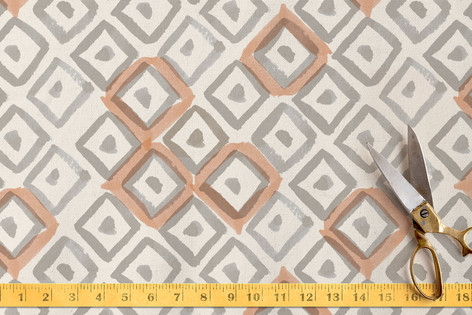 Painted Diamonds Fabric