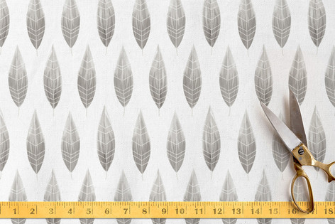 painted feathers Fabric