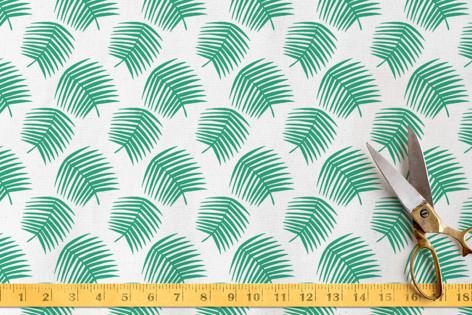 Minimalist Tropical Leaves Fabric