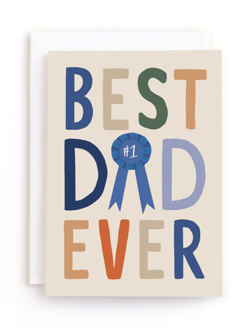 Best Dad Ever Award Father's Day Greeting Cards