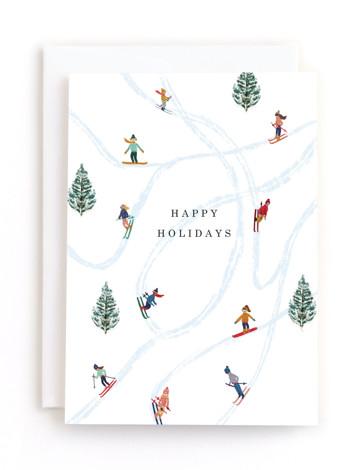 Snow Fun Holiday Greeting Cards