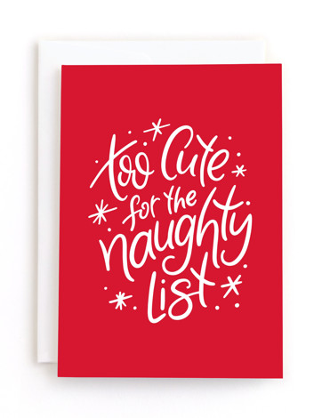 jolly words Holiday Greeting Cards