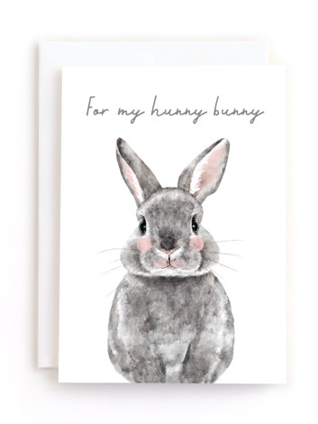 Baby Animal Rabbit Holiday Greeting Cards