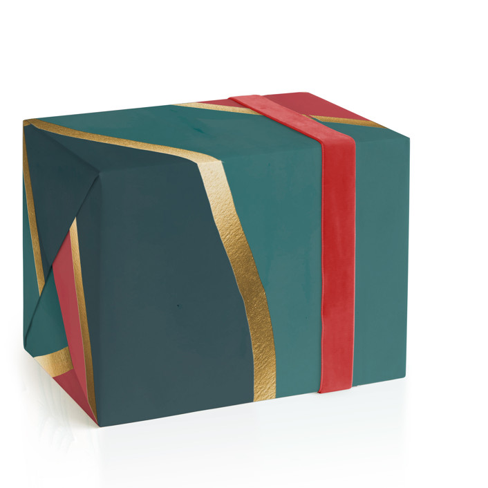 Carousel Foil-Pressed Wrapping Paper