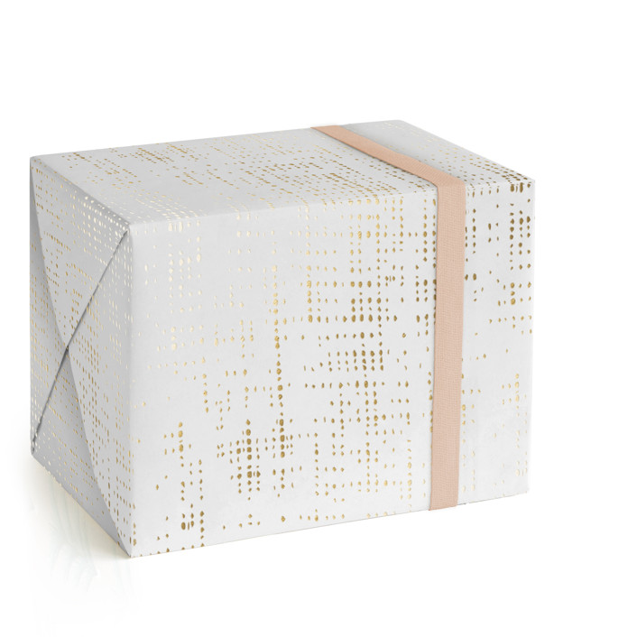 Shimmery Jute Foil-Pressed Wrapping Paper