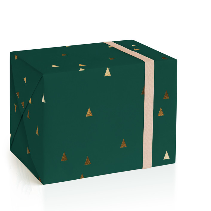Modern Timber Foil-Pressed Wrapping Paper
