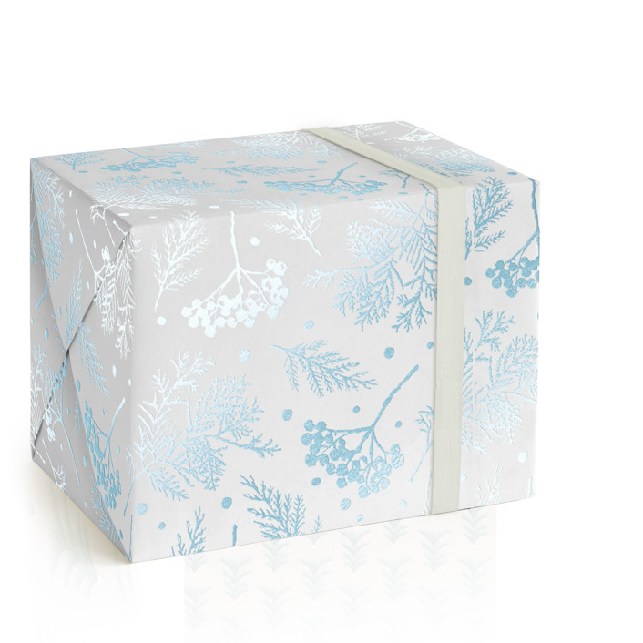 Icy Winter Foil-Pressed Wrapping Paper