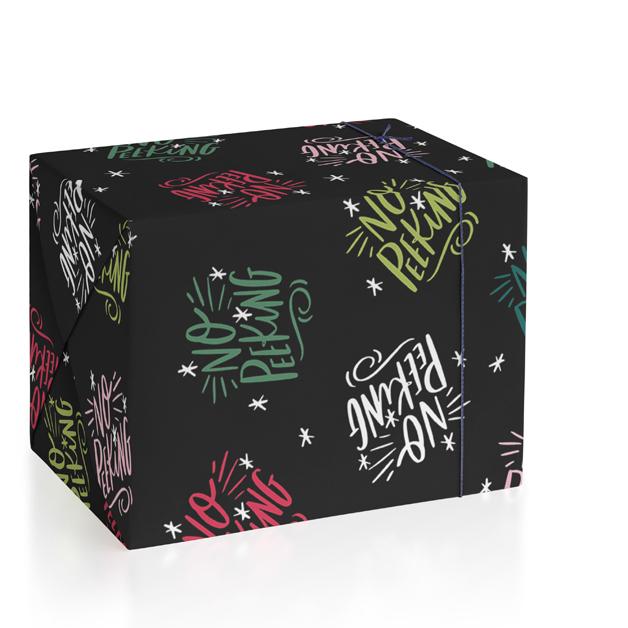 No Peeking Tag Wrapping Paper