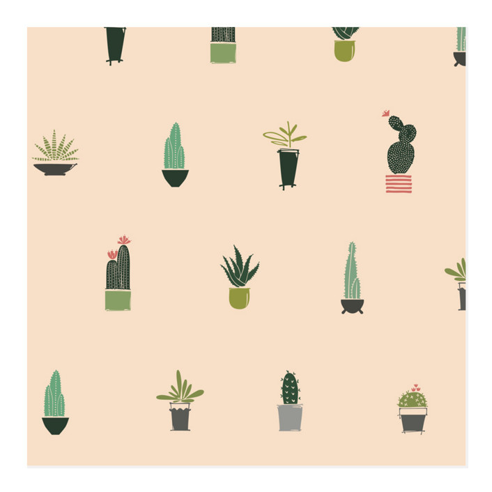 Cacti Collection Wrapping Paper