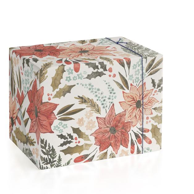Poinsettia Garden Wrapping Paper