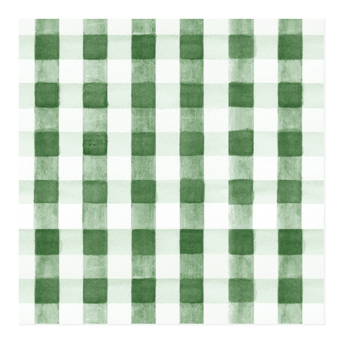 Watercolor Gingham Wrapping Paper
