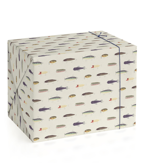 Vintage Fishing Lures Wrapping Paper