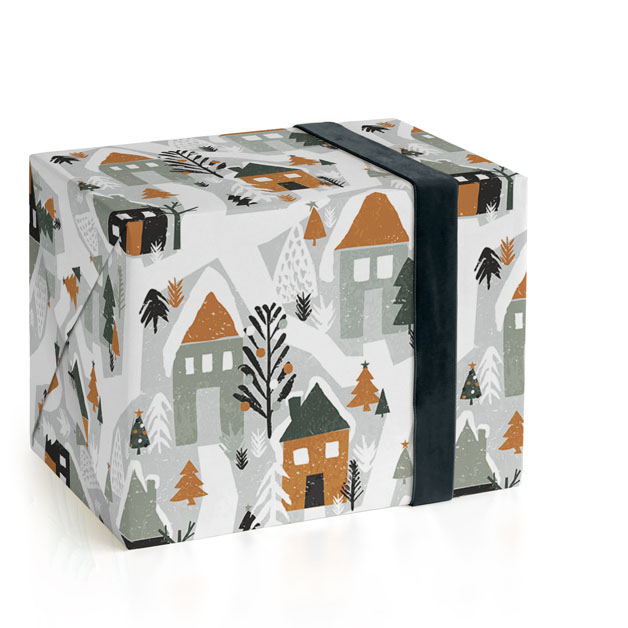 Festive Village Wrapping Paper