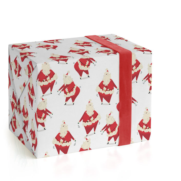 Santa Knows How to Floss Wrapping Paper Wrapping Paper
