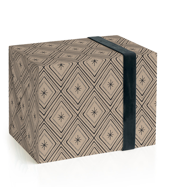 Kraft and Copper Holidays Wrapping Paper