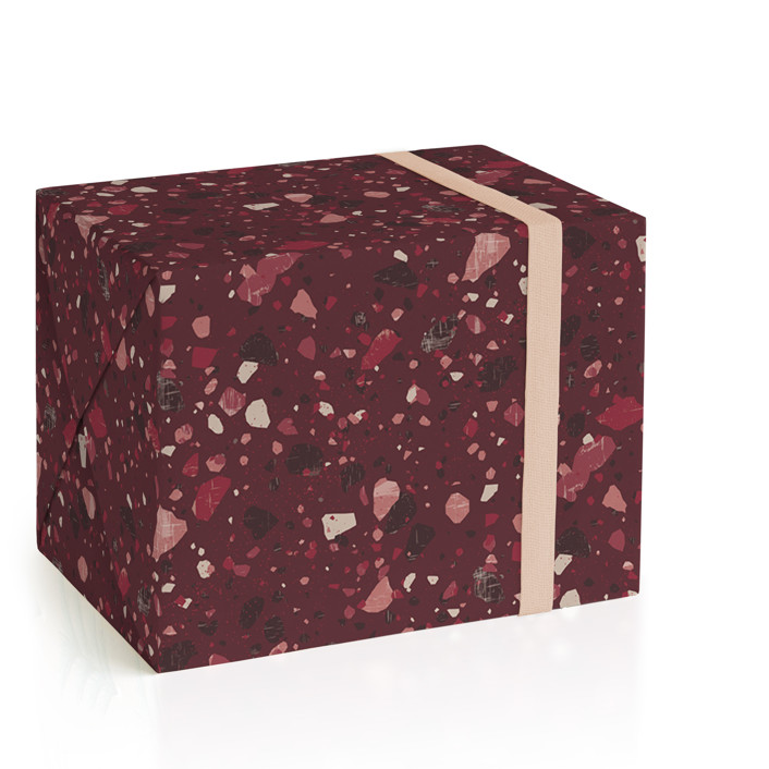 Berry Terrazzo Wrapping Paper