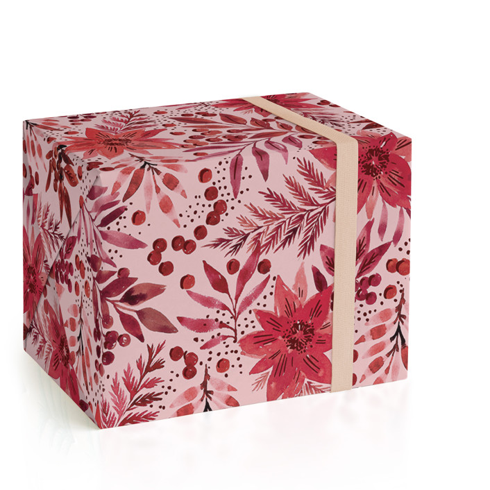 Painted Poinsettia Wrapping Paper