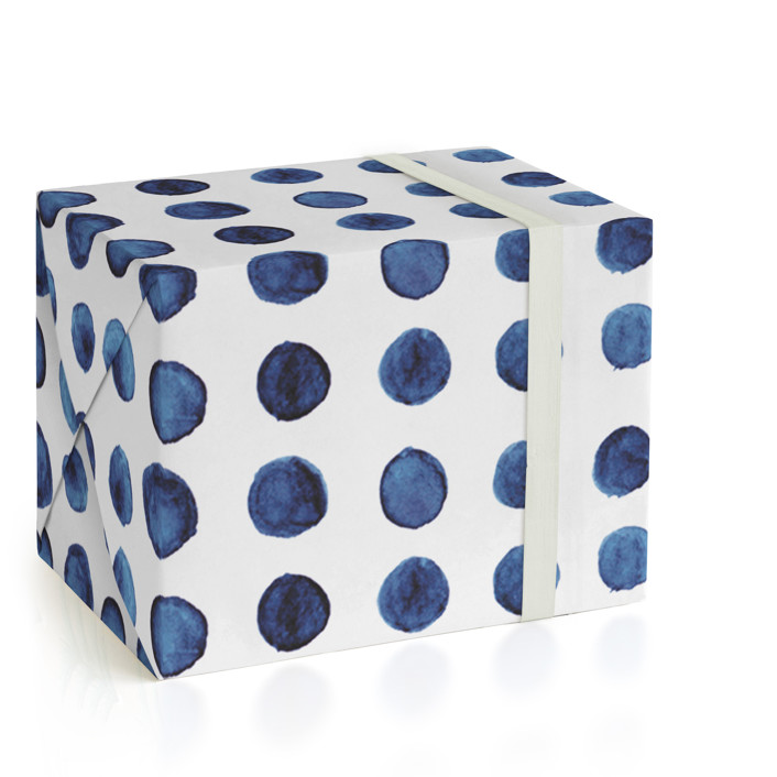 Indigo Love_Orangic Dots Wrapping Paper