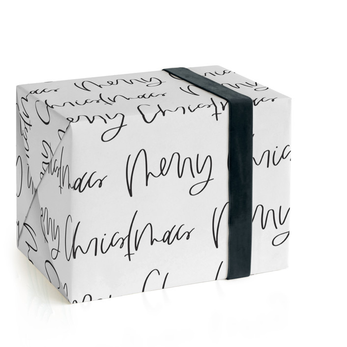 Christmas Lettering Wrapping Paper